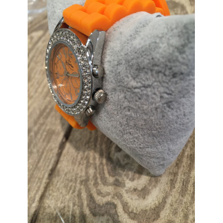 Montre Femme - Quartz style Chrono orange