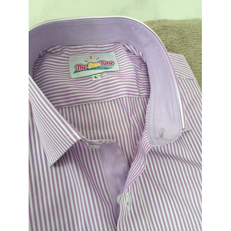 Chemise Rayures parme -Taille XL