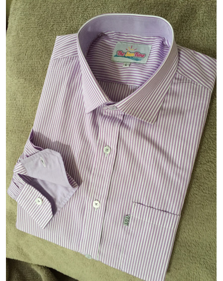 Chemise Rayures parme