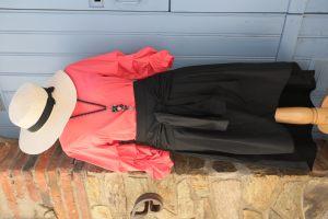 Top Corail et jupe longue